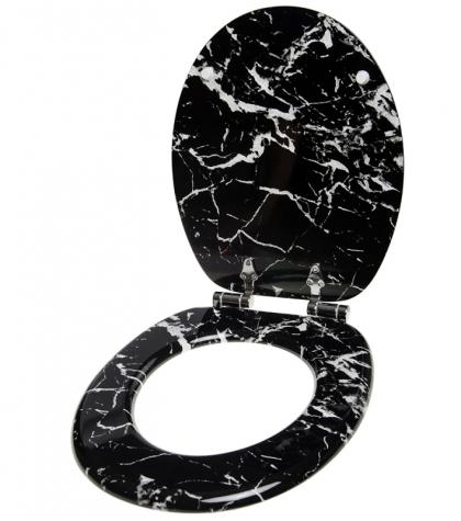 wc sitz mit absenkautomatik marmor schwarz sanilo. Black Bedroom Furniture Sets. Home Design Ideas